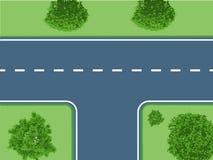 有灌木的交叉路 向量例证