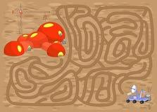 有火星车的机器人必须发现方式到空间 库存照片
