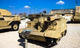 有火焰喷射器的Bren载体 Latrun,以色列 免版税库存照片
