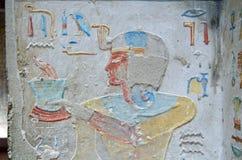 有火的古老埃及王子 免版税库存图片