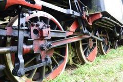 有火车的历史 免版税库存照片