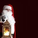 有灯笼的圣诞老人 免版税库存图片