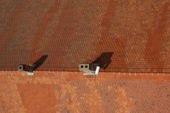 有烟囱的屋顶 免版税图库摄影
