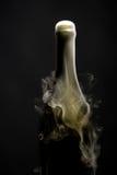 有烟的香宾瓶 免版税图库摄影