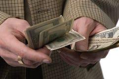 有烧的货币 免版税库存照片