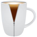 有热奶咖啡的咖啡杯 向量例证