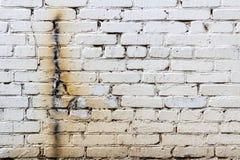 有焊接踪影的老白色砖墙  抽象背景 免版税图库摄影