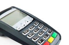 有照明设备键盘的付款终端 免版税库存照片
