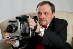 有照相机的人 免版税图库摄影