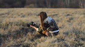有照相机的女孩 影视素材
