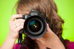 有照相机的摄影师 免版税库存图片