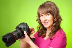 有照相机的摄影师 免版税图库摄影