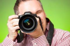 有照相机的摄影师 库存照片