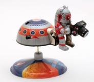 """有照相机的锡玩具系列†""""机器人人 免版税库存照片"""