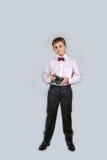 有照相机的(01)一个男孩 免版税图库摄影