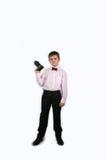 有照相机的(05)男孩 免版税库存照片