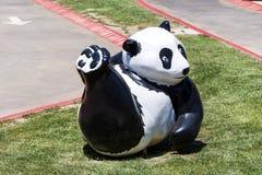 有熊猫的儿童操场 库存图片