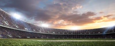 有爱好者的体育场在比赛前 库存照片
