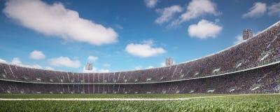 有爱好者的体育场在比赛前 库存图片