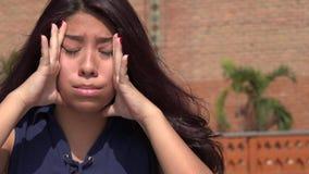 有牙痛的青少年的女孩 库存照片
