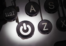 有特别按钮的打字机 库存图片