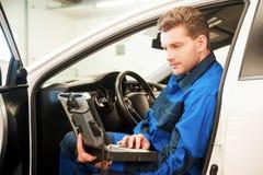 有特别计算机的审查的汽车 免版税库存照片