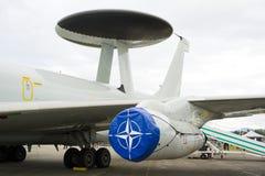 有特别雷达的北约飞机 库存图片