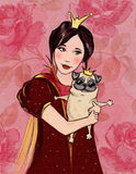 有狗的小女孩 免版税库存照片