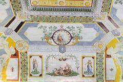 有独角兽的Palazzo Farnese维尔京 库存图片