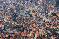 有狭窄的街道的中世纪镇 库存图片
