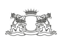 有狮子的纹章冠 图库摄影