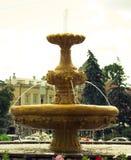 有狮子头的喷泉 免版税图库摄影