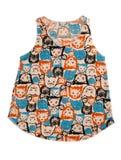 有猫样式的妇女T恤杉 库存图片