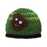 有玩具熊的羊毛盖帽 免版税库存图片