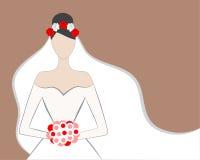 有玫瑰的新娘 库存照片