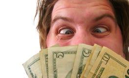 有现金金钱的人 免版税库存图片
