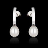 有珍珠的耳环 免版税库存照片