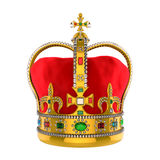 有珠宝的金皇家冠 免版税图库摄影