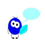 有球和讲话泡影的小妖怪 向量例证