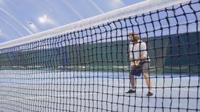 有球拍等待的人网球 影视素材