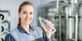 有瓶的专家纯净的水 免版税库存照片