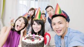 有生日聚会的人们 图库摄影