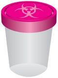有生物危害品标志的塑胶容器 向量例证