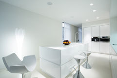 有用餐的空间厨房 免版税图库摄影