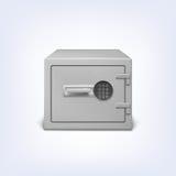 有电子锁的保险柜 免版税库存照片