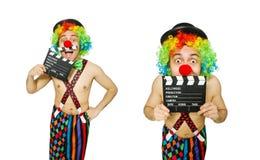 有电影委员会的小丑白色的 库存图片