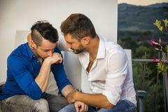 有男性的夫妇关系问题 免版税库存图片
