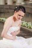 有疼痛的新娘胃 免版税库存图片