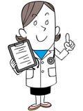 有病历的女性医生 向量例证