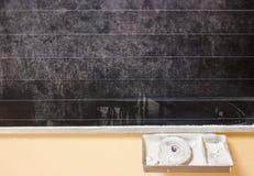 有白垩的黑板 免版税库存图片